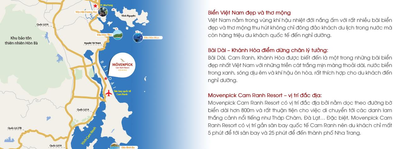Vị trí Movenpick Cam Ranh