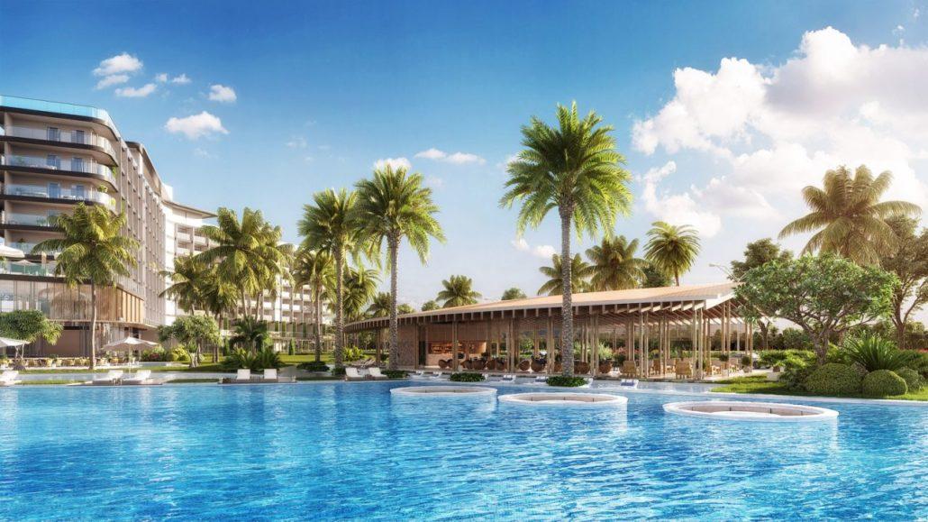 Hồ cảnh quan tại dự án Movenpick Resort Waverly Phú Quốc