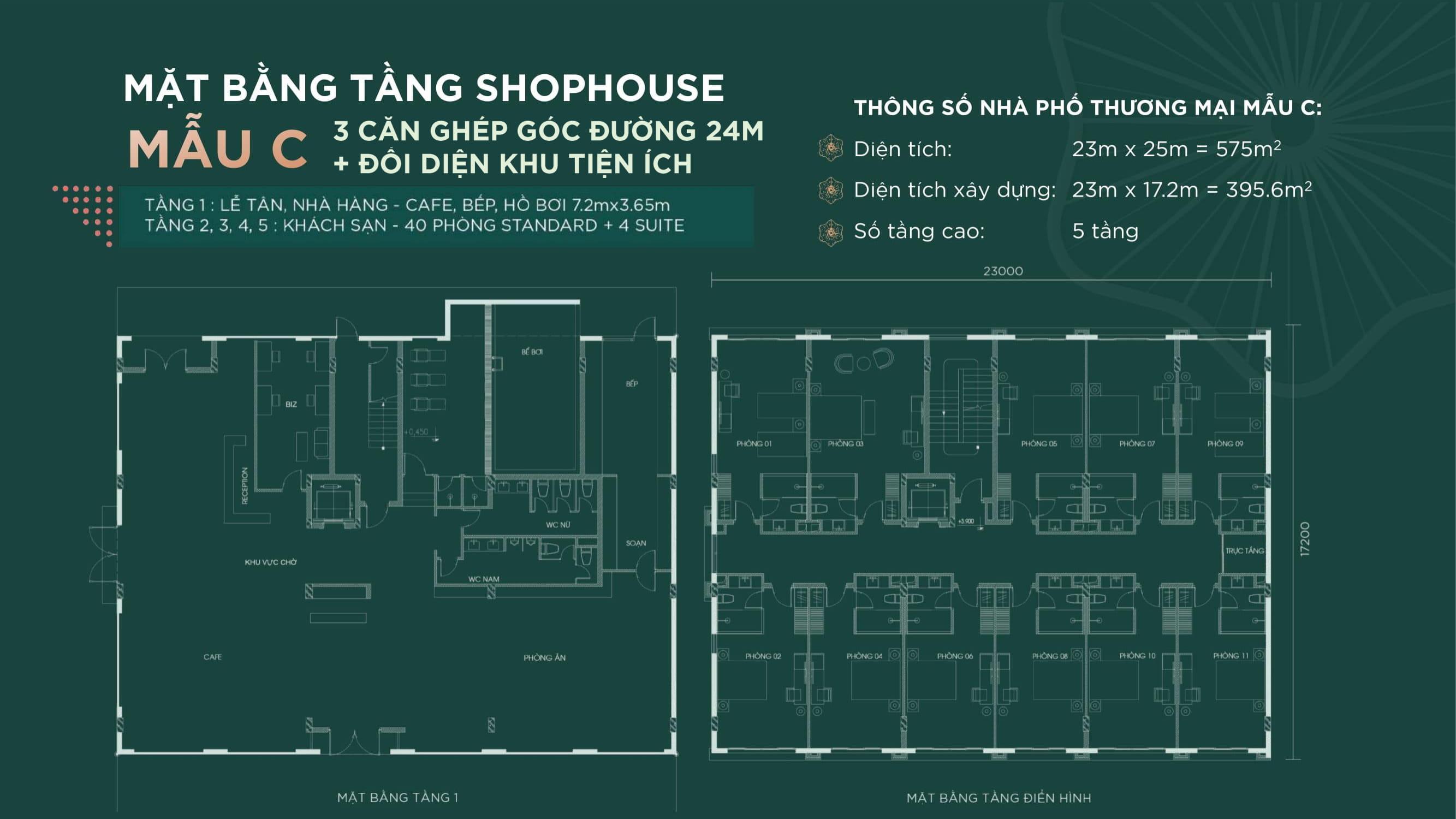 Mặt Bằng C  Shophouse Sim De Maison