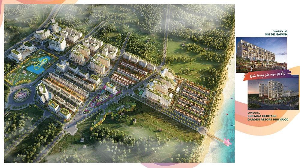 Hình ảnh phối cảnh dự án Sim Island Phú Quốc