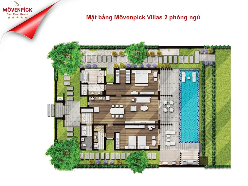 Mặt bằng Movenpick Villas 2 phòng ngủ