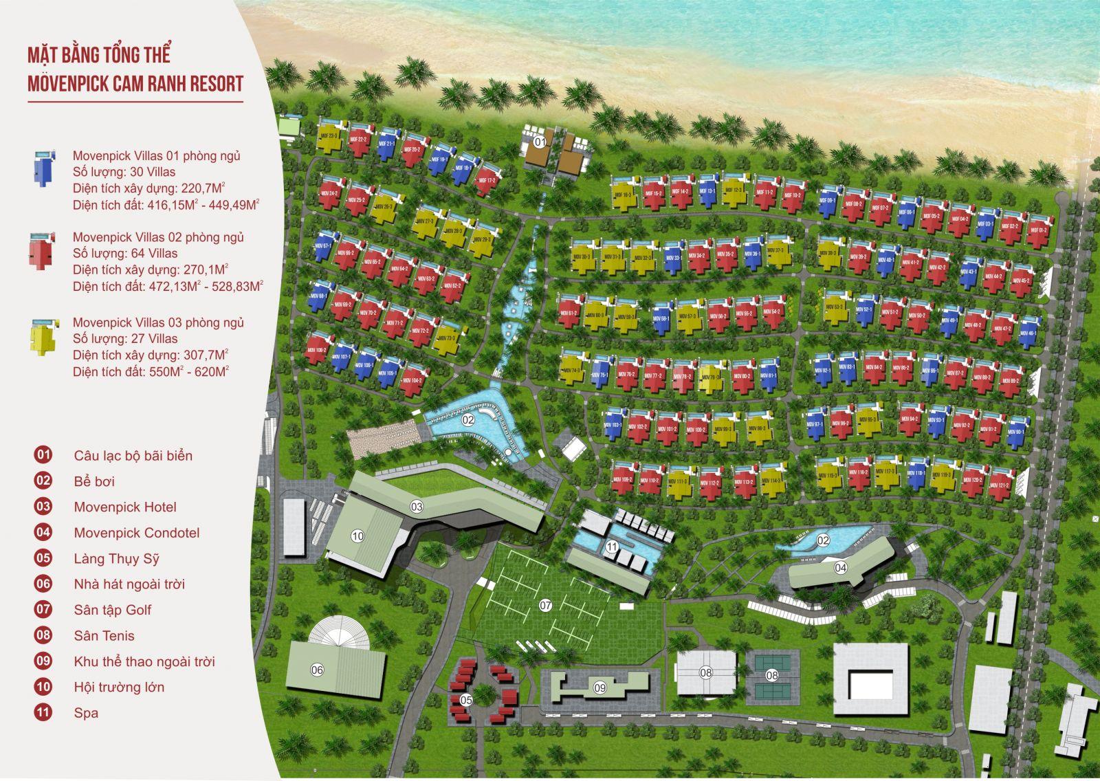 Mặt bằng tổng thể Movenpick Cam Ranh Resorts